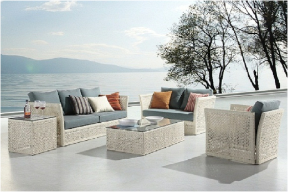 salon, canape, fauteuil, pot, mobilier, meubles, de, jardin, en ...